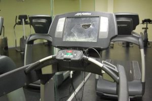 A broken treadmill
