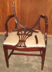 A damaged chair