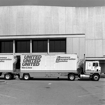 United Van Lines moving truck outside the Berglund Center.