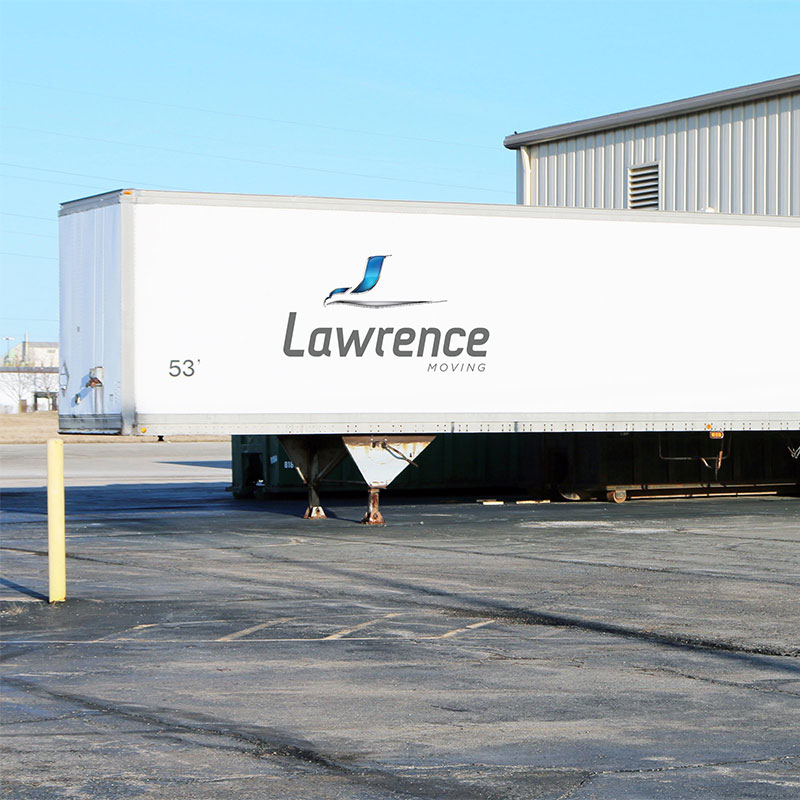 Lawrence Moving trailer.